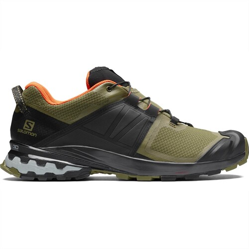 Salomon Xa Wild Mens Trail Running Shoes - Burnt Olive/Black/Exotic Orange