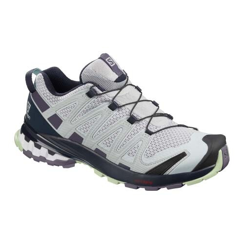 Salomon XA Pro 3D V8 Womens Hiking Shoes - Pearl Blue/Sweet Grape/Patina Green