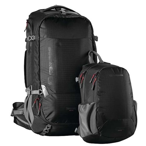 Caribee Magellan 75L Travel Backpack With Daypack - Black
