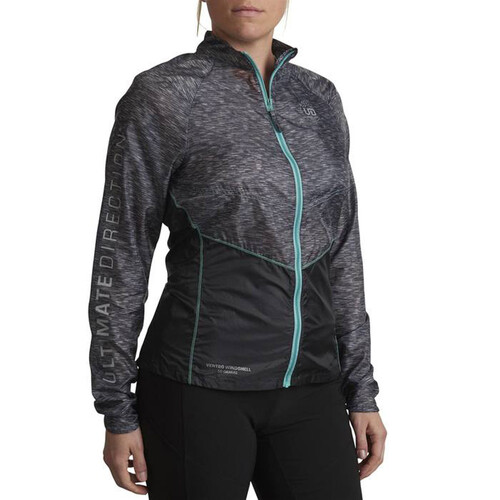 Ultimate Direction Ventro Windshell Womens Running Jacket - Heather Grey