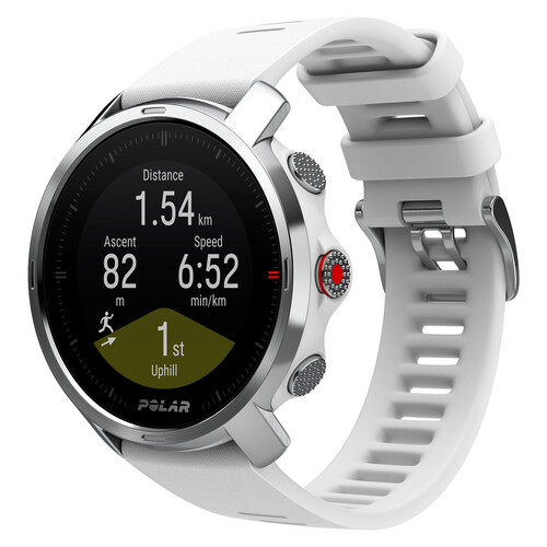 Polar Grit X Outdoor Multisport GPS Watch - White/Silver - S/M