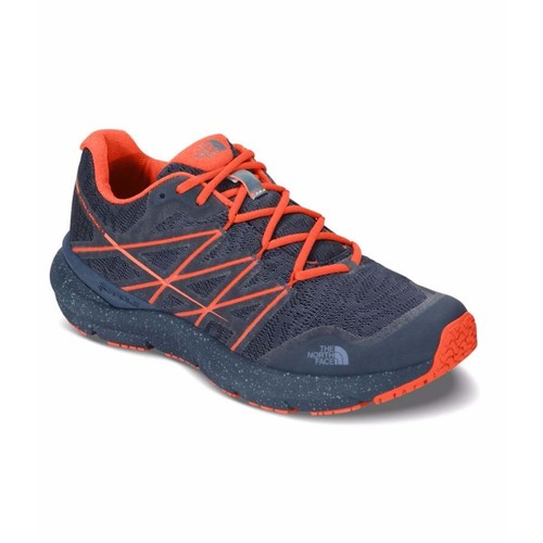 The North Face Womens Ultra Cardiac II Trail Running Shoes - Shady Blue/Nasturtium Orange
