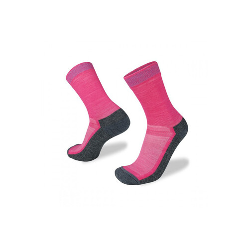 Wilderness Wear Cape To Cape Light Hiker Socks - Pink/Charcoal