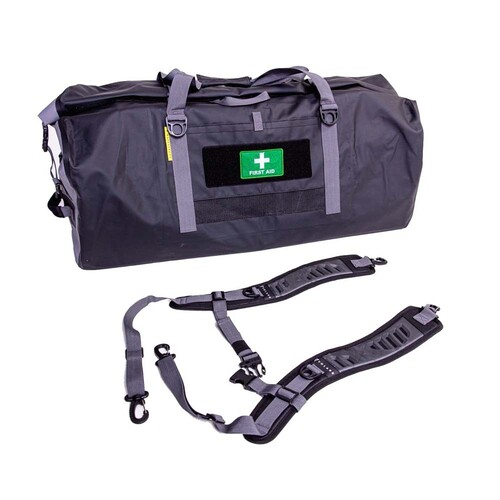 Volare Waterproof 90L Adventure Duffel Bag - Black