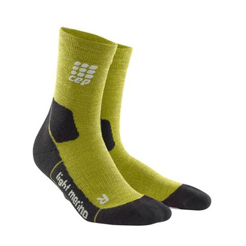 CEP Outdoor Light Merino Mid Cut Mens Compression Running Socks