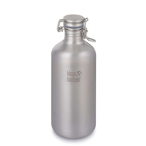 Klean Kanteen 64oz Growler Swing Lok Cap 1.9L - Brushed Stainless