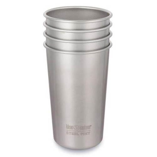 Klean Kanteen Pint 1 - 4 Pack - Brushed Stainless