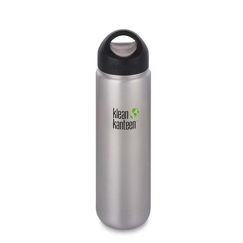 Klean Kanteen 27oz Wide Mouth Loop Cap Water Bottle .8L - Brushed Stainless