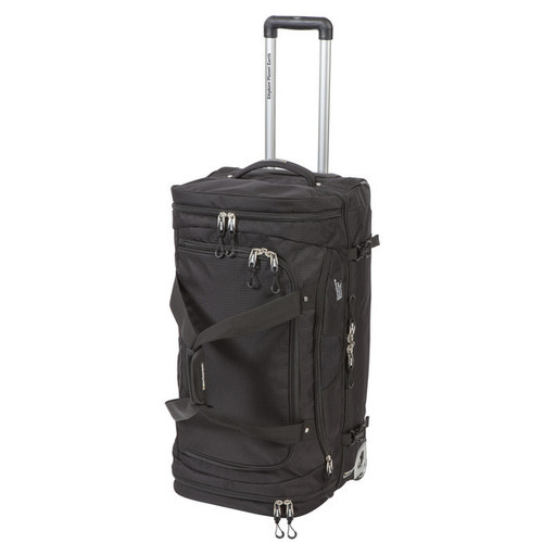 Explore Planet Earth Madrid Roller 110L Wheeled Gear Duffle Bag - Black